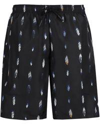 Marcelo Burlon Printed Swim Shorts - Black