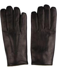 Dolce & Gabbana Leather Gloves - Brown