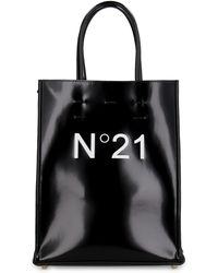 N°21 Vegan Leather Tote - Black