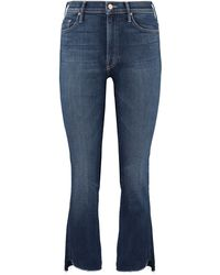 Mother - Jeans 5 tasche Insider Crop Step Fray - Lyst