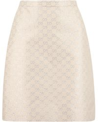 Gucci Jacquard Mini Skirt - Natural