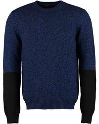 Prada Maglione in lana e cachemire - Blu