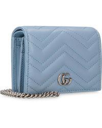 Gucci GG Marmont Card Case - Blue