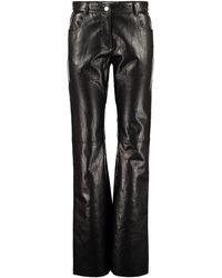 MSGM Pantaloni in ecopelle - Nero
