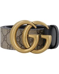 Gucci GG Belt With Double G Buckle - Natural