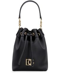 Dolce & Gabbana Dg Millennials Leather Bucket Bag - Black