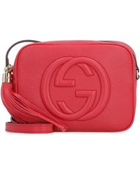 Gucci Soho Leather Crossbody Bag - Red