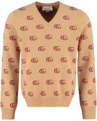 Gucci GG Jacquard Sweater - Brown