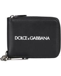Dolce & Gabbana Portafoglio zip around in pelle - Nero