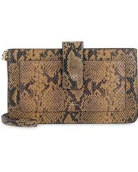A.P.C. Albane Python Print Leather Clutch - Multicolor