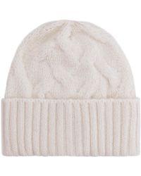 Séfr Beanie Cable Knit Hat - White