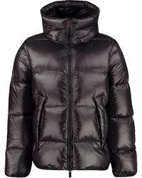 Pyrenex Hooded Short Down Jacket - Black