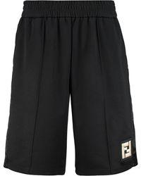 Fendi Techno Fabric Bermuda-shorts - Black