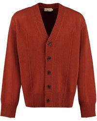 Maison Kitsuné Extra-fine Wool Cardigan - Brown