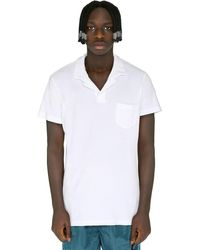 Orlebar Brown Terry Towelling Polo Shirt - White