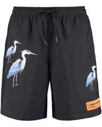 Heron Preston Printed Swim Shorts - Black