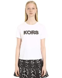 MICHAEL Michael Kors Crew-neck Cotton T-shirt - White