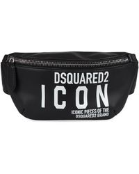 DSquared² Miss Icon Leather Belt Bag - Black