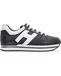 Hogan Sneakers H222 in pelle - Nero