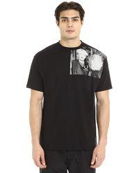 Fred Perry Raf Simons X - Crew-neck Cotton T-shirt - Black