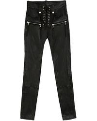 Unravel Project Pantaloni in pelle - Nero
