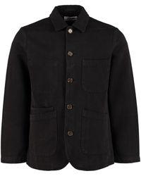 Universal Works Bakers Cotton Twill Overshirt - Black