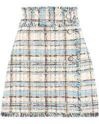 MSGM Minigonna in tweed - Multicolore
