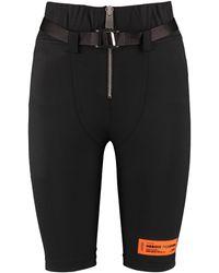 Heron Preston Shorts ciclisti con cintura - Nero