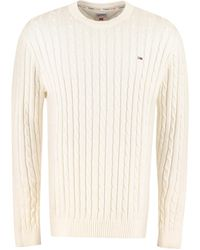 Tommy Hilfiger Cotton Crew-neck Sweater - White