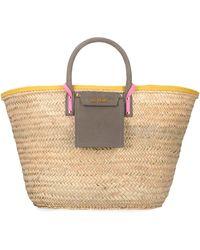 Jacquemus Soleil Raffia Big Handbag - Natural