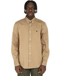 Carhartt Madison Cotton Twill Shirt - Natural