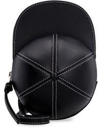JW Anderson Cap Leather Crossbody Bag - Black