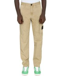 Stone Island Cotton Cargo-trousers - Natural