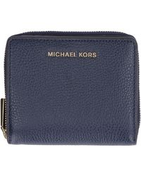 MICHAEL Michael Kors Small Leather Flap-over Wallet - Blue