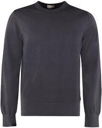 Z Zegna Crew-neck Wool Sweater - Blue