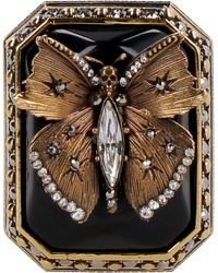 Alexander McQueen Anello Butterfly - Metallizzato