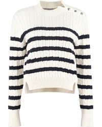 2 Moncler 1952 Cable Knit Pullover - Blue