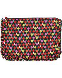 LaDoubleJ Printed Nylon Clutch - Multicolor