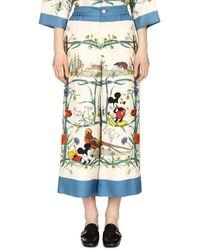 Gucci Disney X Printed Silk Pajama Pants - Multicolor