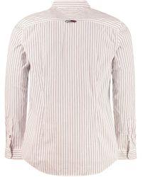 Tommy Hilfiger Camicia in cotone a righe - Bianco