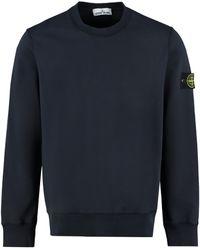 Stone Island Cotton Crew-neck Sweatshirt - Blue
