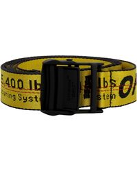 Off-White c/o Virgil Abloh Industrial Canvas Belt - Yellow
