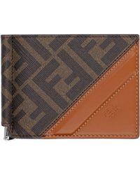Fendi Coated Canvas Wallet - Brown