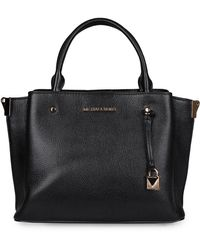 MICHAEL Michael Kors Arielle Pebbled Leather Handbag - Black