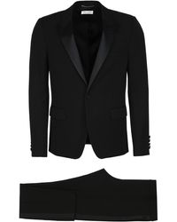 Saint Laurent Virgin Wool Two Piece Suit - Black