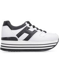 Hogan Sneakers platform in pelle - Bianco