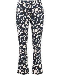 Max Mara Summer Printed Cotton Pants - Multicolor