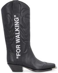 Off-White c/o Virgil Abloh For Walking Cowboy Boots - Black