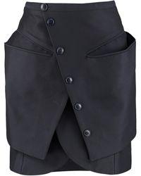 Jacquemus Asymmetric Wrap Skirt - Blue