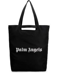 Palm Angels Tote bag in nylon - Nero